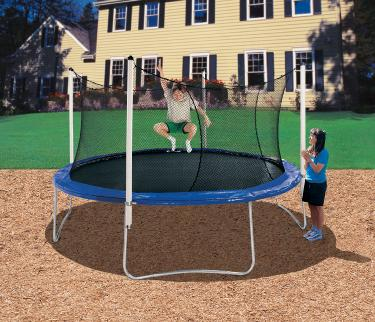 14' Trampoline With 4 Pole Enclosure