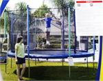 14' Jump Zone Round Trampoline and Enclosure Parts - Model LT-6001-168