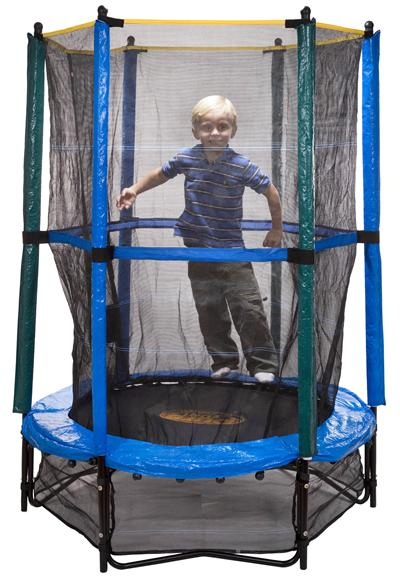 trampoline 4ft 7in Pure Fun Kids Trampoline and Enclosure Set at Sears.com