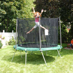 trampoline 8' x 10' Summit Folding Oval Trampoline and Enclosure at Sears.com