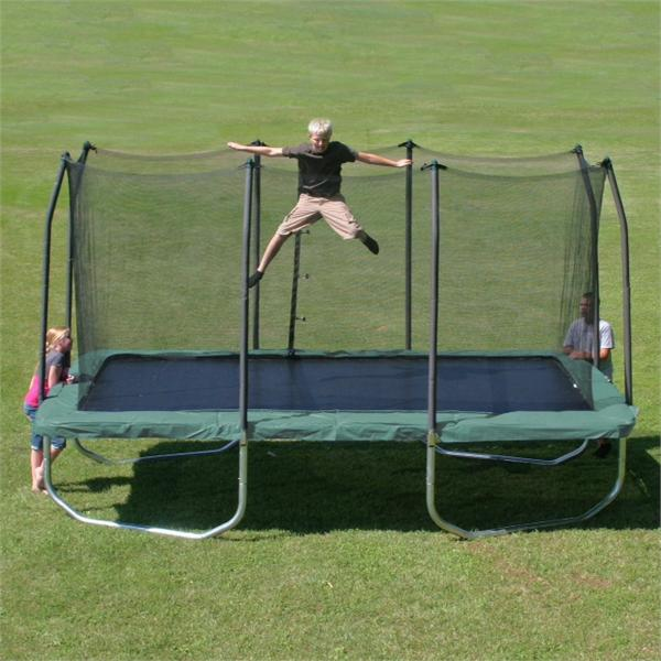 Skywalker 14 Foot Square Trampoline And Enclosure With: 8'X14' SKYWALKER Summit Rectangle Trampoline Enclosure Combo