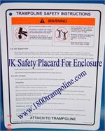 Safety Placard for 8' Airmaster Enclosure