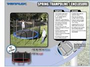 14ft VARIFLEX Spring Trampoline with Enclosure