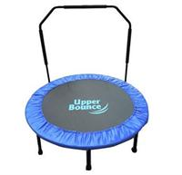 48in Foldable Indoor/Outdoor Trampoline w/ Handrail