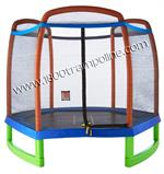 Pure Fun 7' Kids Trampoline Set with Tic-Tac-Toe Mat