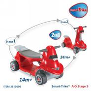 Smart Trike Ride N Scoot 2 in 1 Red