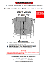 sportspower 12ft trampoline instructions