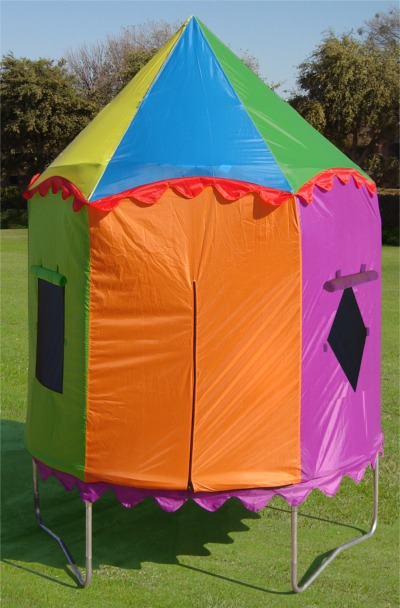 7.5ft Circus Tent- Bazoongi JumpPod Tr&oline & Multi-Color Circus Tent for the 7.5u0027 Bazoongi JumpPod Trampoline