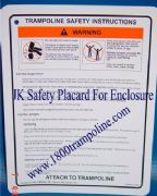 JumpKing Trampoline Enclosure Safety Card