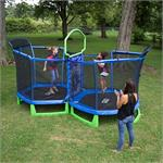 "88"" Sportspower Battle Zone hexagonal trampoline MSC-4168-JKB"