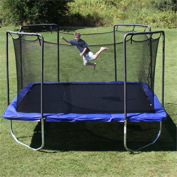 Skywalker 14 Foot Square Trampoline And Enclosure With: 15'x15' Square SKYWALKER Trampoline & Enclosure Combo