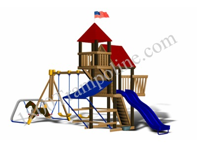chateau.jpg  sc 1 st  1800 Tr‾ & Little Tikes Chateau Wooden Swing Set