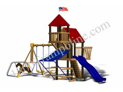 Little Tikes Chateau Wooden Swing Set