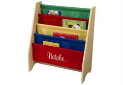 primary personalized sling bookshelf kidkraft