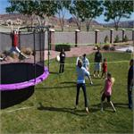Volleyball Net Enclosure Attachment