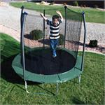 8ft Round Trampoline with Enclosure Combo